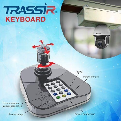 Фото - Модуль управления TRASSIR Keyboard камерами джойстиком и его клавиатурой модуль управления wolf am