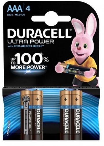 Батарейка Duracell LR03 Ultra Power 4шт, size ААА, MX2400 aaa батарейка duracell ultra power lr03 4bl mx2400 4 шт