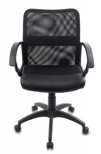 Фото - Кресло Бюрократ CH-590 черное/черное, искусственная кожа, спинка сетка кресло бюрократ ch 605 черное искусственная кожа крестовина металл