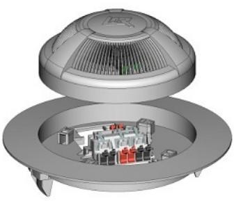Извещатель Рубеж ИП 212-95 для подвесного потолка дымовой 2-х проводный, U-шс9…30В, I-деж.45 мкА, IP30, t-раб.-45...+55°С