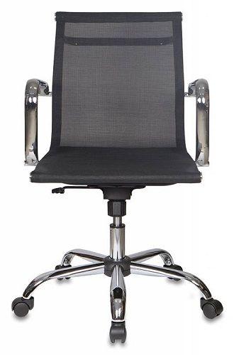 Фото - Кресло Бюрократ CH-993-LOW черное, сетка, низкая спинка, крестовина хром кресло бюрократ ch 605 черное искусственная кожа крестовина металл