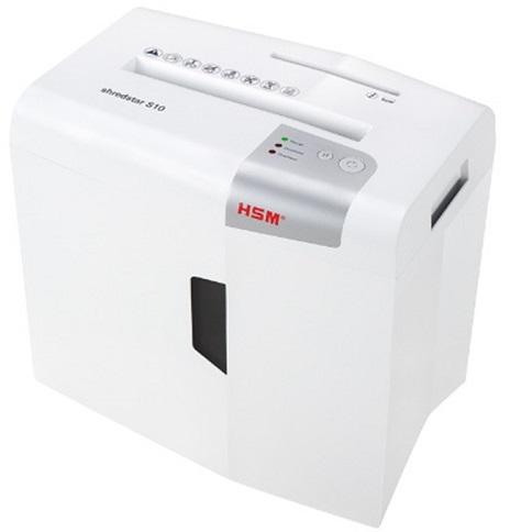 Уничтожитель бумаг HSM Shredstar S10-6 1042121 секр.Р-2 ленты/12л/18лтр., скрепки/скобы/плкарты/CD, white
