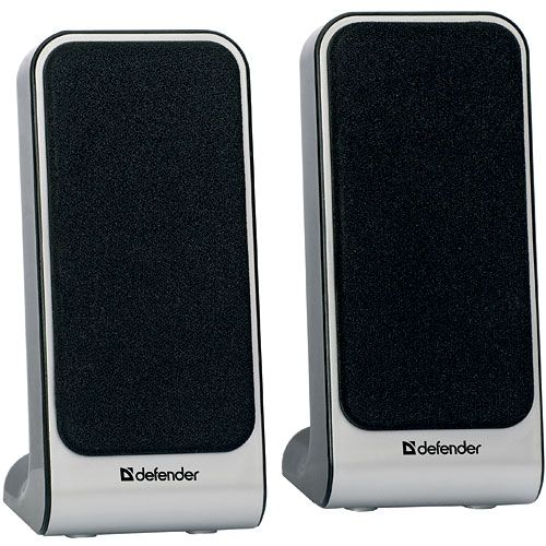 Компьютерная акустика 2.0 Defender SPK-225 65220 4 Вт, 200-18000 Гц, USB-Power, silver