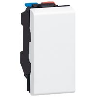 Выключатель Mosaic Legrand 77001 для управления освещением с двух мест 10АХ (1 модуль) белый