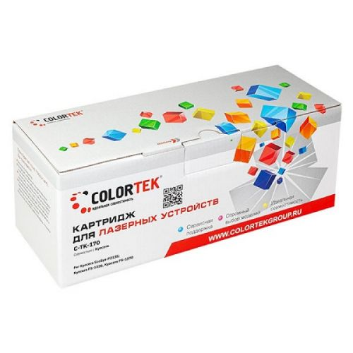 Картридж Colortek CT-TK170 для Kyocera EcoSys-P2135, Kyocera FS-1320, Kyocera FS-1370, черный, 7200 стр