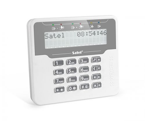 Клавиатура SATEL VERSA-LCDM-WH напряжение питания U = 12 B DC, потребление тока в режиме готовности I гот.= 50 mA, максимальное потребление тока I max