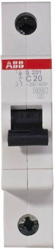 Фото - Автоматический выключатель ABB 2CDS251001R0204 S201 1P 20А (С) 6kA автоматический выключатель abb 2cds251103r0104 s201 1p n 10а с 6ка