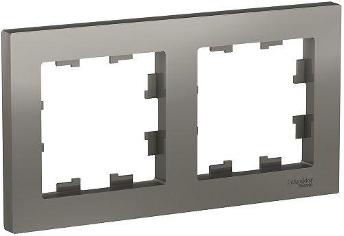 Рамка Schneider Electric ATN000902 AtlasDesign, 2-постовая, универсальная, сталь