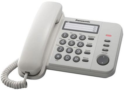 Телефон проводной Panasonic KX-TS2352RUW проводной телефон panasonic kx ts2363ruw