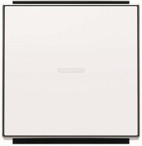 Панель лицевая ABB 2CLA850130A1101 для 1-клавишных выключателей/переключателей/кнопок с линзой подсветки, альпийский белый