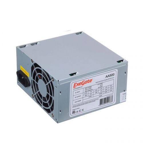 Блок питания ATX Exegate AA500 EX256711RUS 500W, 8cm fan, 24p+4p, 2*SATA, 1*IDE блок питания exegate atx un500 500w grey ex244555rus s 278165