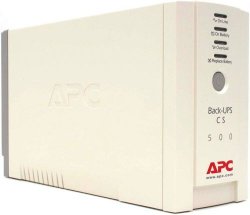 бесперебойного питания APC BK500EI Back-UPS CS 500VA/300W, 230V, 4xC13 outlets (1 Surge & 3 batt. ), Data/DSL protection, USB, PCh