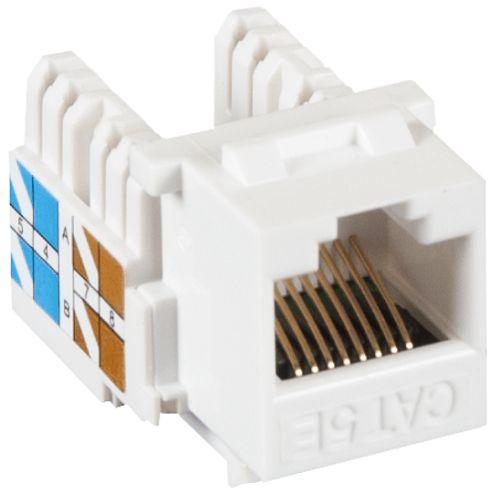 Фото - Модуль Netlan EC-UKJ-UD2-WT-10 типа Keystone, Кат.5e (Класс D), 100МГц, RJ45/8P8C, 110/KRONE, T568A/B, неэкранированный, белый, уп-ка 10шт. модуль eurolan 16b u5 03yl розеточный keystone кат 5e utp 1xrj45 t568a b желтый