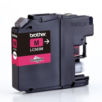 Картридж Brother LC-563M для MFCJ2310/2510/3520/3720 пурпурный (600стр) картридж brother lc 563bk для mfcj2310 2510 3520 3720 чёрный 600стр