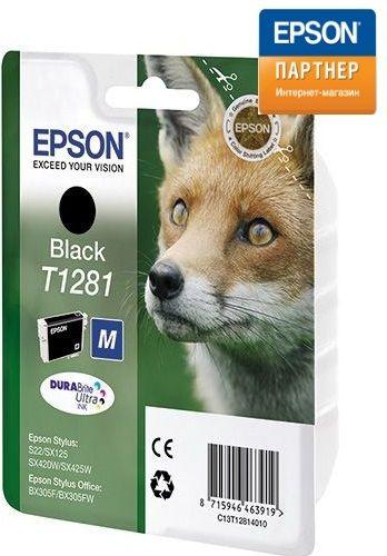 Картридж Epson C13T12814012 для принтера Stylus S22/МФУ SX420W/SX425W/SX125/SX430W чёрный