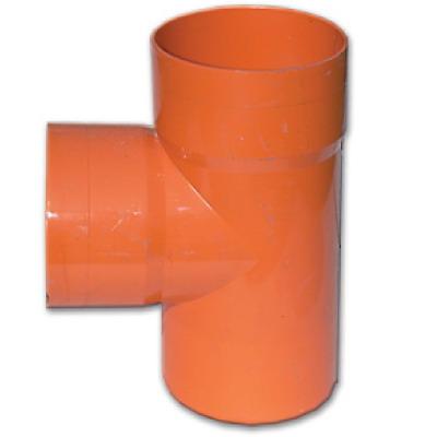 Тройник DKC 020200 для двустенных труб, 90град., полипропилен, д.200