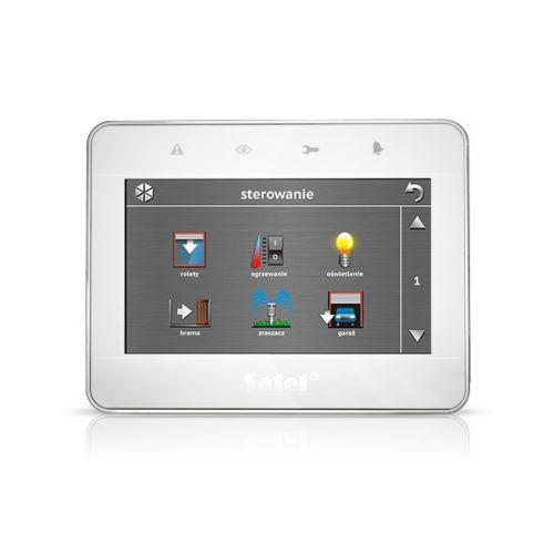 Клавиатура SATEL INT-TSG-WSW сенсорная, корпус белый-серебро-белый. Возможность управления автоматикой дома + охранные функции + 4-е МАКРОС-набора Х 1