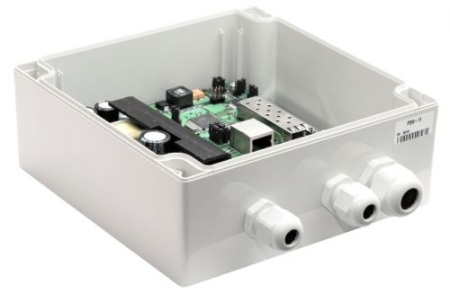 Коммутатор TFortis PSW-11 (оптика) уличный неуправляемый для подключения 1 камеры