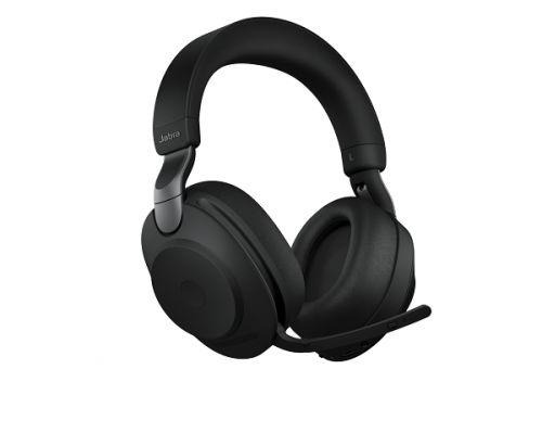 Гарнитура беспроводная Jabra Evolve2 85 28599-989-889 Link380c UC Stereo Stand Black наушники jabra evolve2 65 link380c uc stereo stand black 26599 989 889