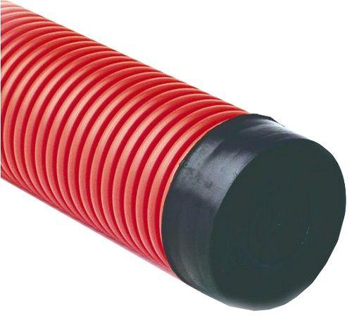 Труба RUVinil ТЖ-КЛ0-110К двустенная ПНД/ПНД 110мм,красная (600м)
