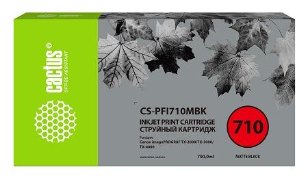 Картридж Cactus CS-PFI710MBK черный матовый (700мл) для Canon imagePROGRAF TX-2000/TX-3000/TX-4000