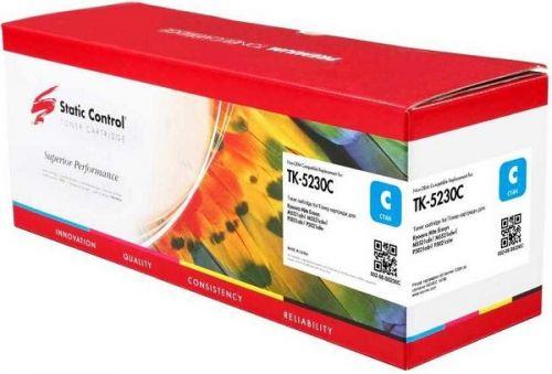 Картридж Static Control TK-5230C 002-08-S5230C голубой (2600стр.) для Kyocera Ecosys M5521cdn/M5521cdw/P5021cdn/P5021cdw