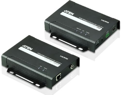 Удлинитель Aten VE802-AT-G HDMI HDBaseT-Lite+RS232+IR, 60 м, 1xUTP Cat5e, HDMI+RJ45+3-контактн. клемма+MINIJACK, F, без шнуров, БП 220> 5V