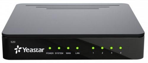Цифровая АТС Yeastar S20 20 SIP, 1 GSM, 4 канала FXO/FXS