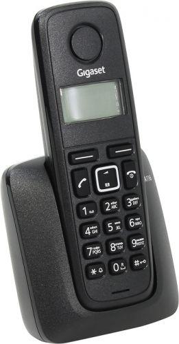 Телефон DECT Gigaset A116 черный АОН