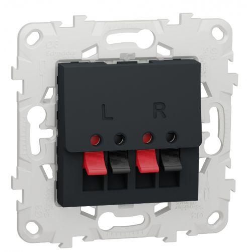 Розетка Schneider Electric NU548654 аудио антрацит
