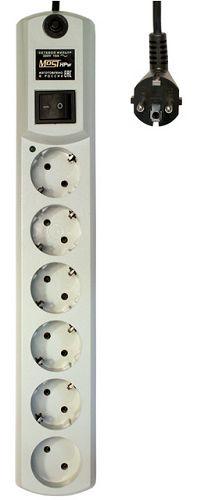 Сетевой фильтр Most HPw 5м (6 розеток) белый (коробка) 479625 сетевой фильтр most h6 5м черный