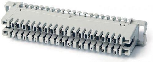 Плинт Hyperline KR-PL-10-CON-0 соединительный на 10 пар, маркировка 0-9, (Krone)