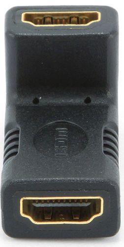 Переходник Gembird HDMI-HDMI A-HDMI-FFL 19F/19F угловой, золотые разъемы, пакет