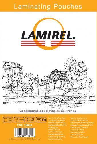 Пленка Fellowes LA-78664 для ламинирования Lamirel 65x95мм, 125мкм, 100шт