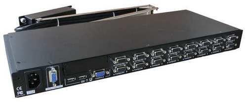 Модуль расширения Procase OCTO-16-C 16 портов Сombo (PS/2 и USB), опционально: вторая консоль, IP модуль, разрешение 1920*1440, каскадируемый