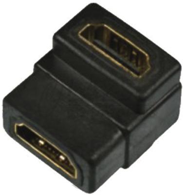 Переходник LAZSO APHH00/AA(90) Соединитель HDMI розетка(А)/ HDMI розетка(А), угловой (90гр.), 19pin, позолоченные контакты.