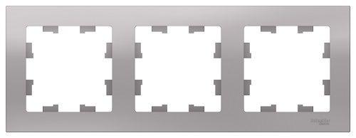 Рамка Schneider Electric ATN000303 AtlasDesign, 3-постовая, универсальная, алюминий