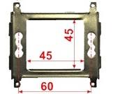 Суппорт Lanmaster LAN-MF45x45 металлический для установки 45х45
