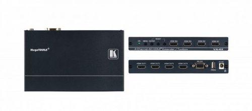 Усилитель Kramer VA-4X 50-00076790 эквалайзер HDMI версии 2.0 четырехканальный, поддержка 4К60 4:4:4