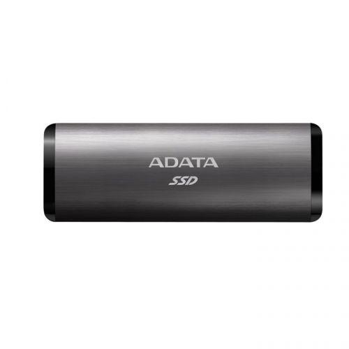Накопитель SSD USB 3.2 ADATA ASE760-512GU32G2-CTI внешний SE760 512GB Titan-Gray External 1000MB/s USB 3.2 Gen 2 Type-C RTL