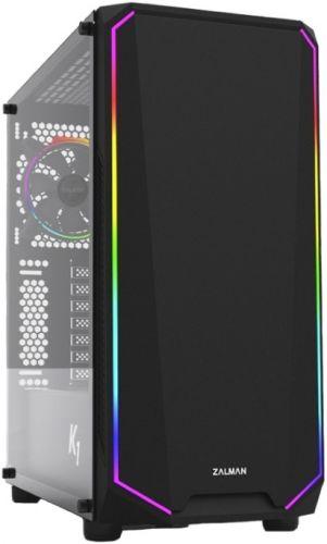 Фото - Корпус ATX Zalman K1Rev.B BLACK,WINDOW,EDGERGBDESIGN,2x3.5,2x2.5,2xUSB2.0,2xUSB3.0,FRONT1x120mm,REAR1x120mmARGB корпус zalman s2 tempered glass window black
