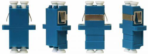 Адаптер проходной TELCORD AD-LC/SM-DX-BL оптический, duplex LC/SM (SC-type), корпус синий