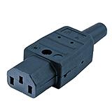 Разъем Hyperline CON-IEC320C13 IEC 60320 C13 220В 10A на кабель (плоские контакты внутри разъема), прямой