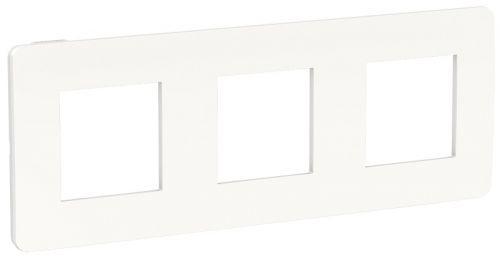 Рамка Schneider Electric NU280618 Unica Studio, белая/белая, 3-ная