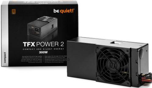 Блок питания ATX Be quiet! TFX POWER 2 300W Bronze BN228 модульный TFX, aPFC, 80Plus Bronze, 80mm fan, RTL (TFX POWER 2 300W Bronze - BN228)