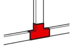 Тройник Legrand 638154 40x16 мм METRA