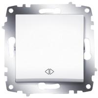 Переключатель ABB 619-010200-214 Cosmo перекрестный одноклавишный, 10А, 250В, IP20 (сх. 7) (белый) выключатель abb 619 011000 200 cosmo одноклавишный 10а 250в ip20 алюминий