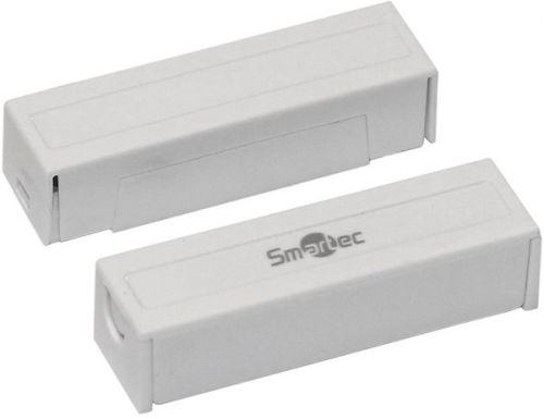 Датчик Smartec ST-DM124NC-WT магнитоконтактный, НЗ, накладной для деревянных дверей, зазор 25 мм, белый