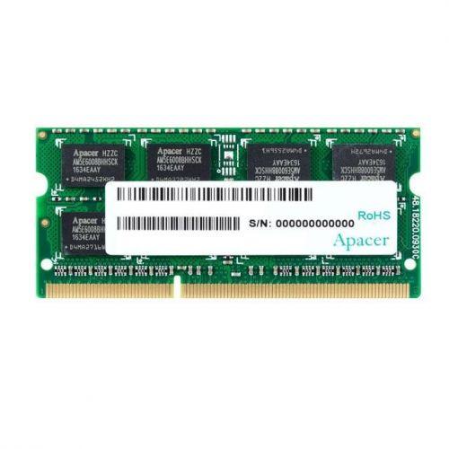 Фото - Модуль памяти SODIMM DDR3 4GB Apacer DV.04G2K.HAM 1600MHz, PC3-12800, CL11, Retail (AS04GFA60CAQBGJ) модуль памяти qumo 4gb ddr3 1600mhz sodimm 204pin cl11 qum3s 4g1600c11