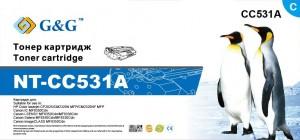 Фото - Тонер-картридж голубой G&G NT-CC531A для HP Color LaserJet CM2320, CP2025 Series картридж hp 304a cc533a для принтера color laserjet cp2025 cm2320 пурпурный